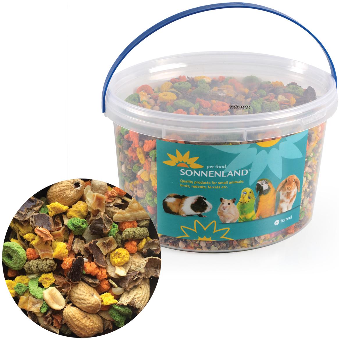 Sonnenland Nutty krmivo pro hlodavce, kbelík 1,11kg, 3l