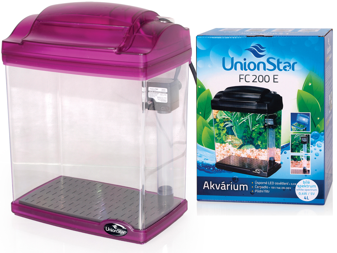 UnionStar LED akvarijní komplet FC200E purpurový