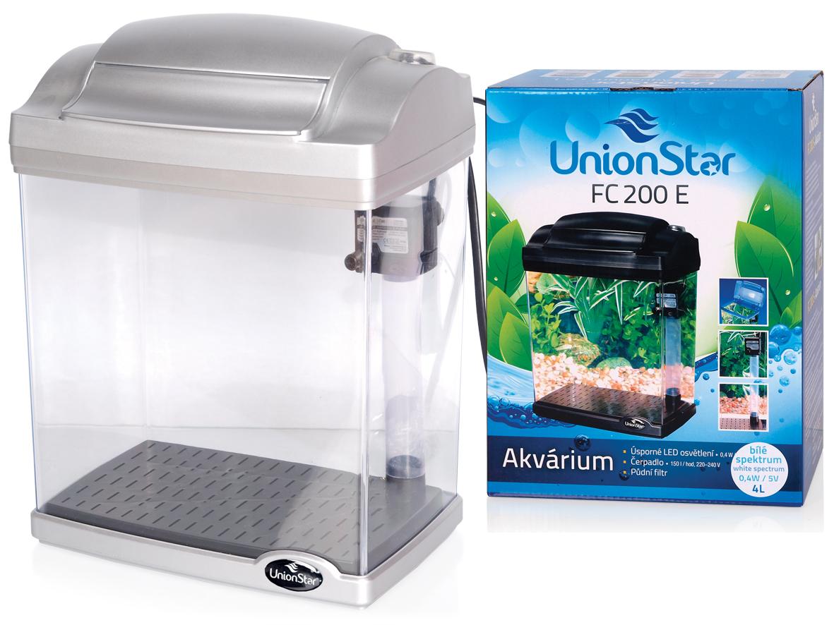 UnionStar LED akvarijní komplet FC200E stříbrný
