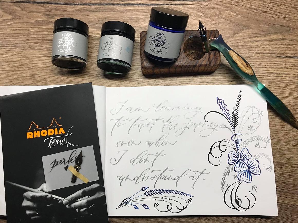 kaligrafický inkoust