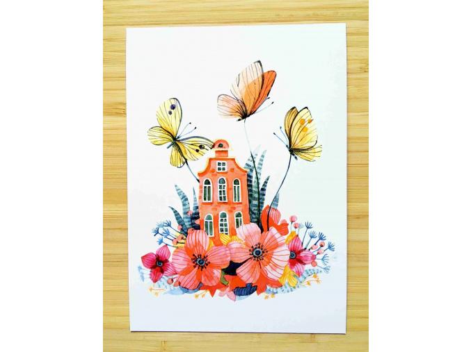 pohled vílí domek motýli