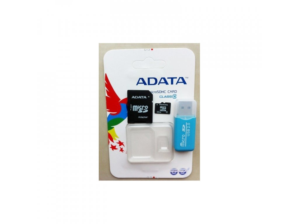 A-DATA Micro SDHC Card 32GB + SDHC adaptér Class 10