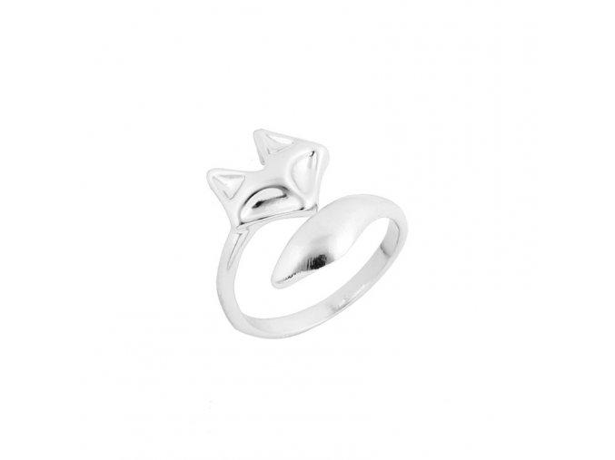prsten liska stribrna2