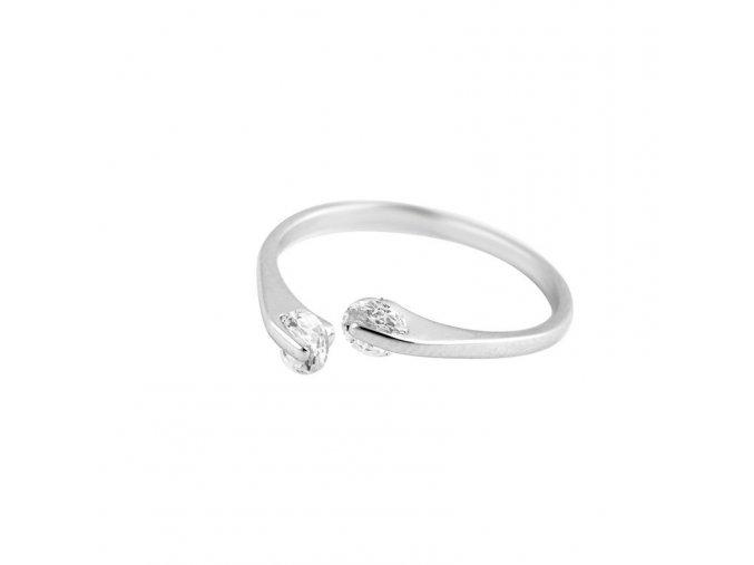 Prsten 2kaminky stribrna1