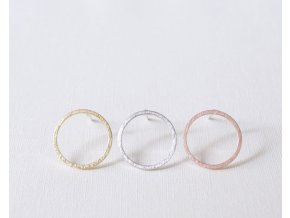 Shuangshuo 2017 Fashion New Multicolor Bushed Open Round Stud Earrings for Women Simple Geometric Circle Party