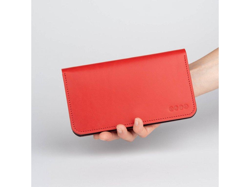 Dámská kožená peněženka VIVID - červeno hnědá