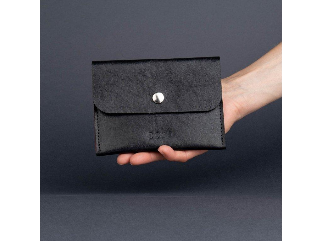 Dámská kožená peněženka PETIT- černo šedá