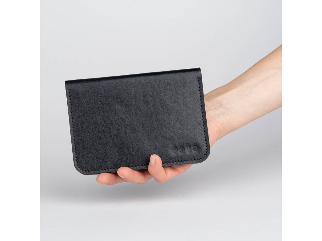 Dámská kožená peněženka MINI - černo oříšková