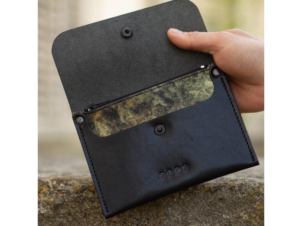 Dámská kožená peněženka PETIT- černo červená