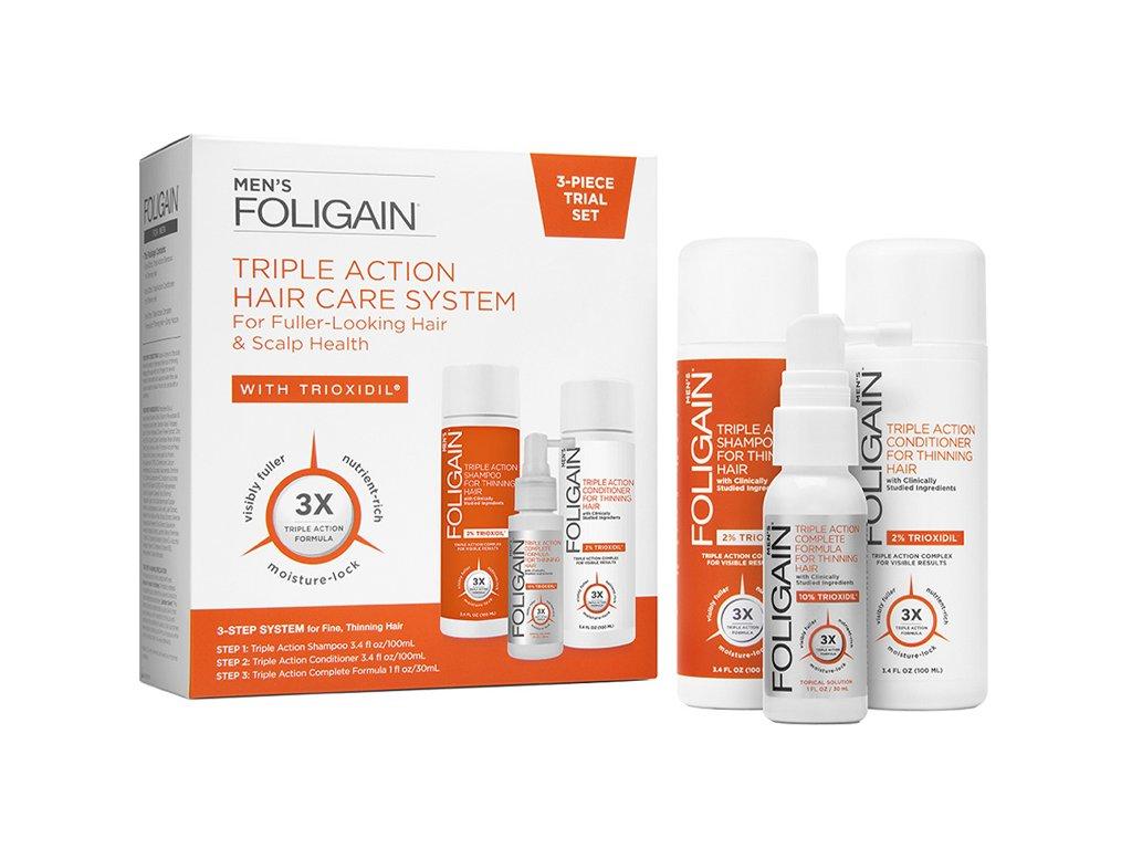 MEN's 3 PIECE TRIALTRAVEL SET Triple Action Hair Care System Aurio01