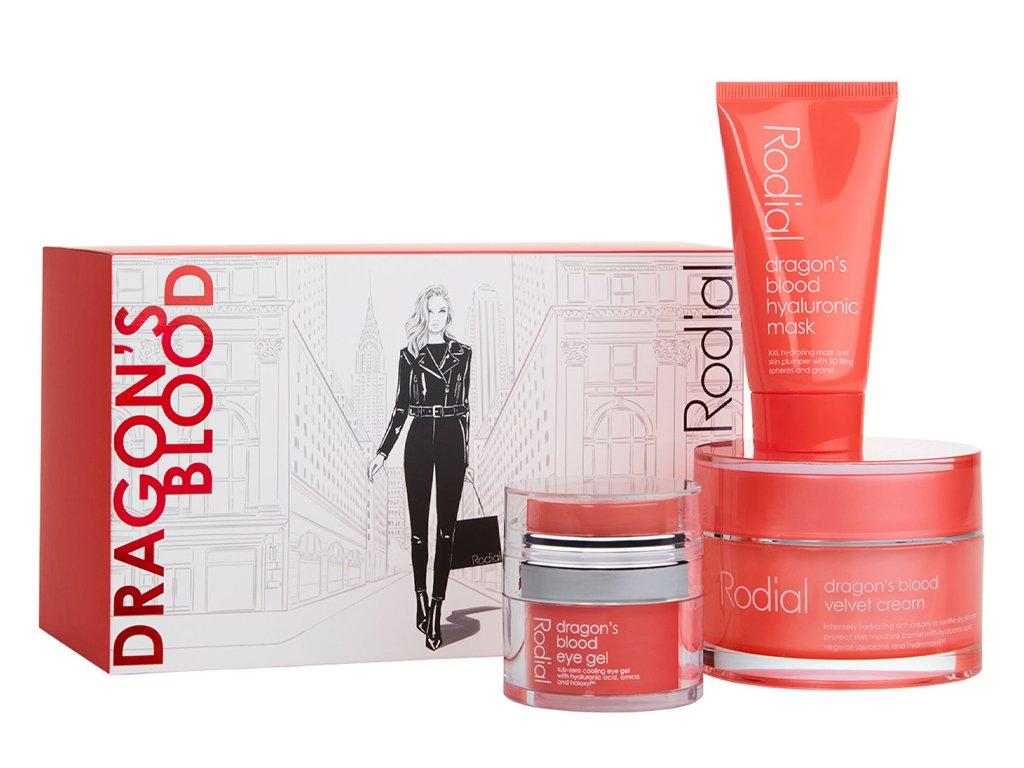 Rodial Dragon's Blood Gift Set hydratačních připravků