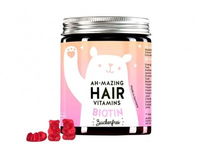 Bears With Benefits Ah mazing vitamíny pro zdravé vlasy s biotinem bez cukru Aurio 01