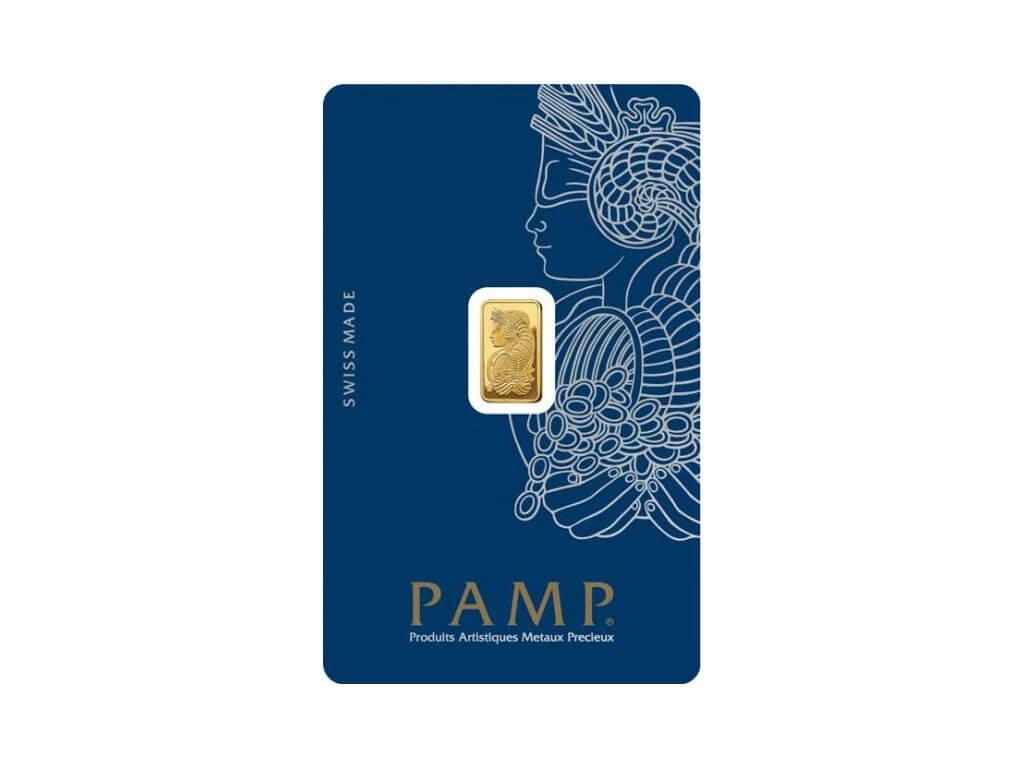 1g investiční zlatý slitek Pamp Fortuna