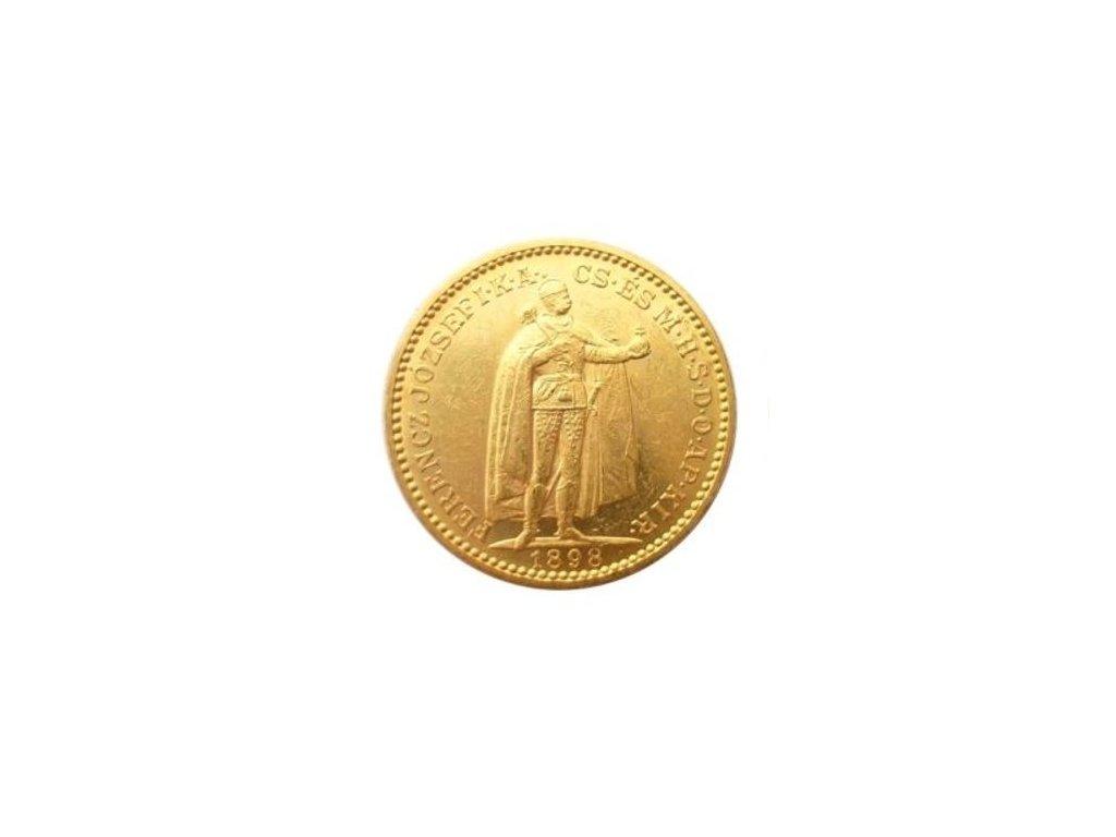 Zlatá mince Dvacetikoruna Františka Josefa I. Uherská ražba 1904