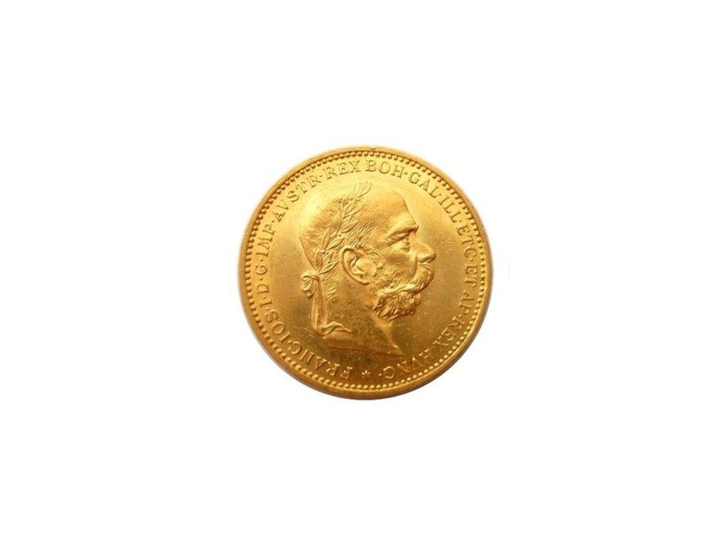 Zlatá mince Dvacetikoruna Františka Josefa I. Rakouská ražba 1900