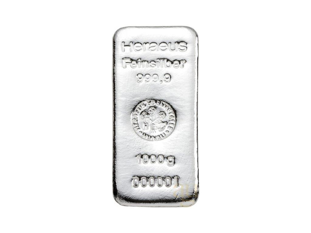 1000g investiční stříbrný slitek Heraeus