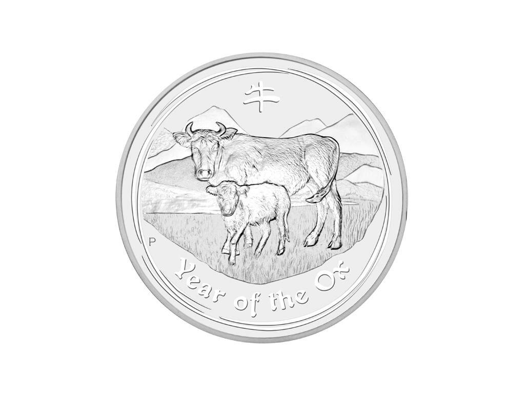 Stříbrná investiční mince Rok Buvola Lunar II 1kg 2009