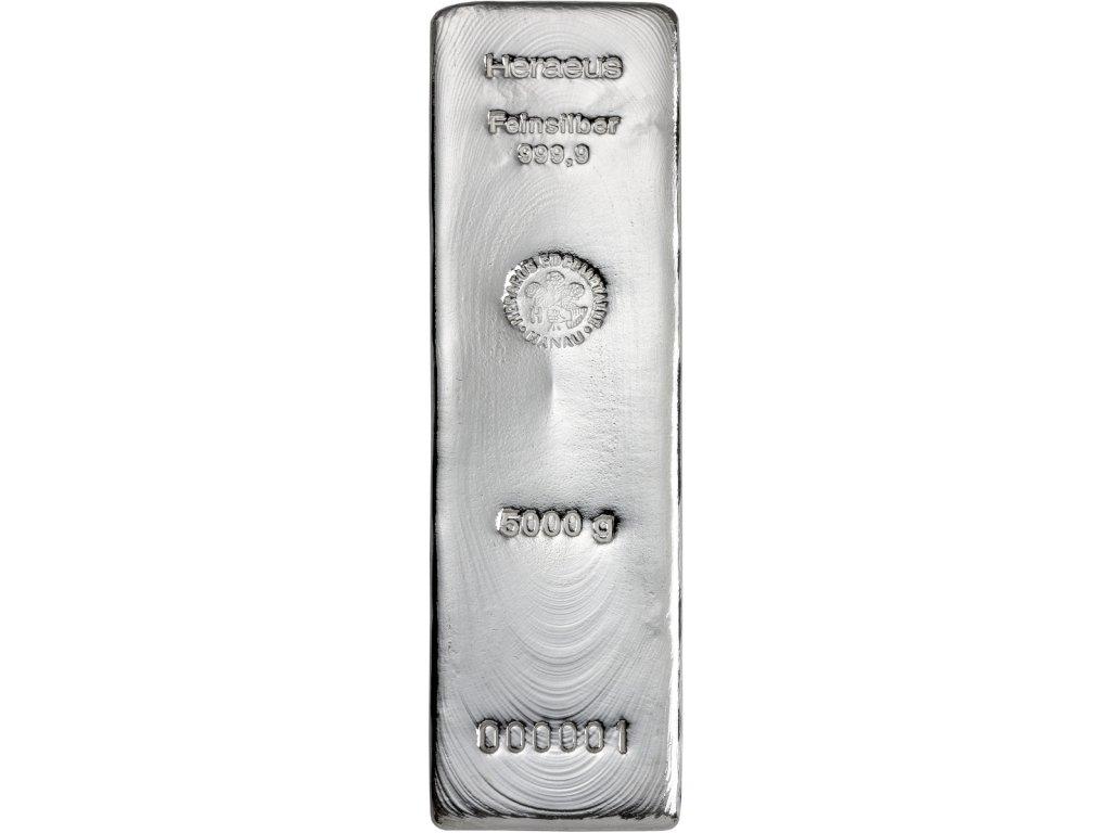 5000g investiční stříbrný slitek Heraeus
