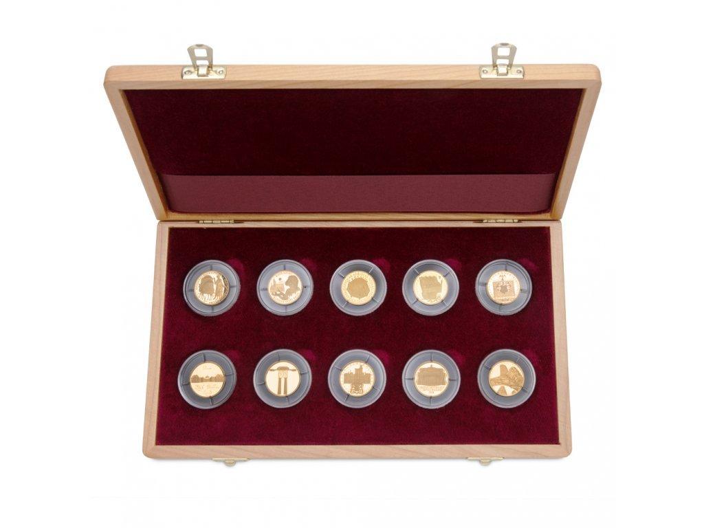 322 1 sada 10 zlatych minci deset stoleti architektury 2001 2005 proof