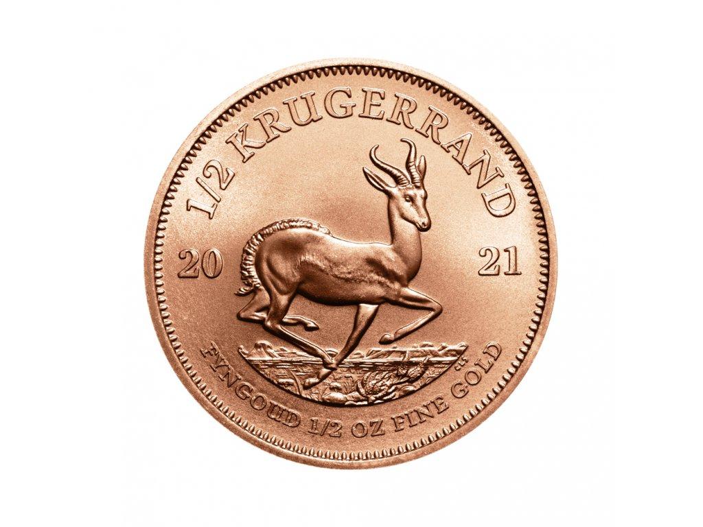 Zlatá investiční mince Krugerrand 1/2 Oz