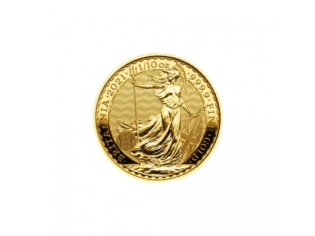 Zlatá investiční mince Britannia 1/10 Oz