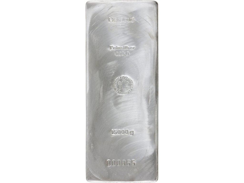 15000g investiční stříbrný slitek Heraeus