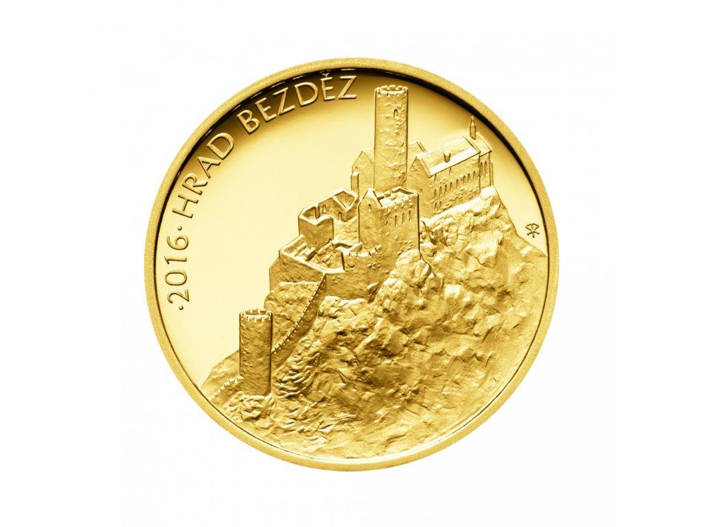 Zlatá mince 5000 Kč Hrad Bezděz 2016 Proof