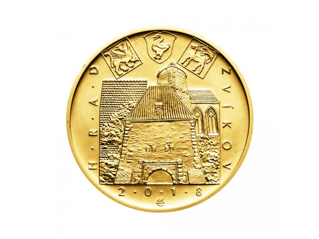 Zlatá mince 5000 Kč Hrad Zvíkov 2018 Standard