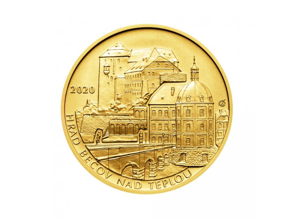 Zlatá mince 5000 Kč Hrad Bečov nad Teplou 2020 Standard