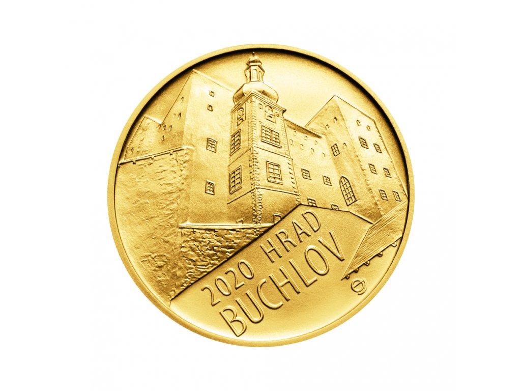 Zlatá mince 5000 Kč Hrad Buchlov 2020 Standard