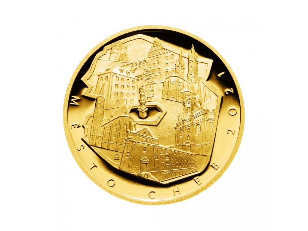 Zlatá mince 5000 Kč Cheb 2021 Proof
