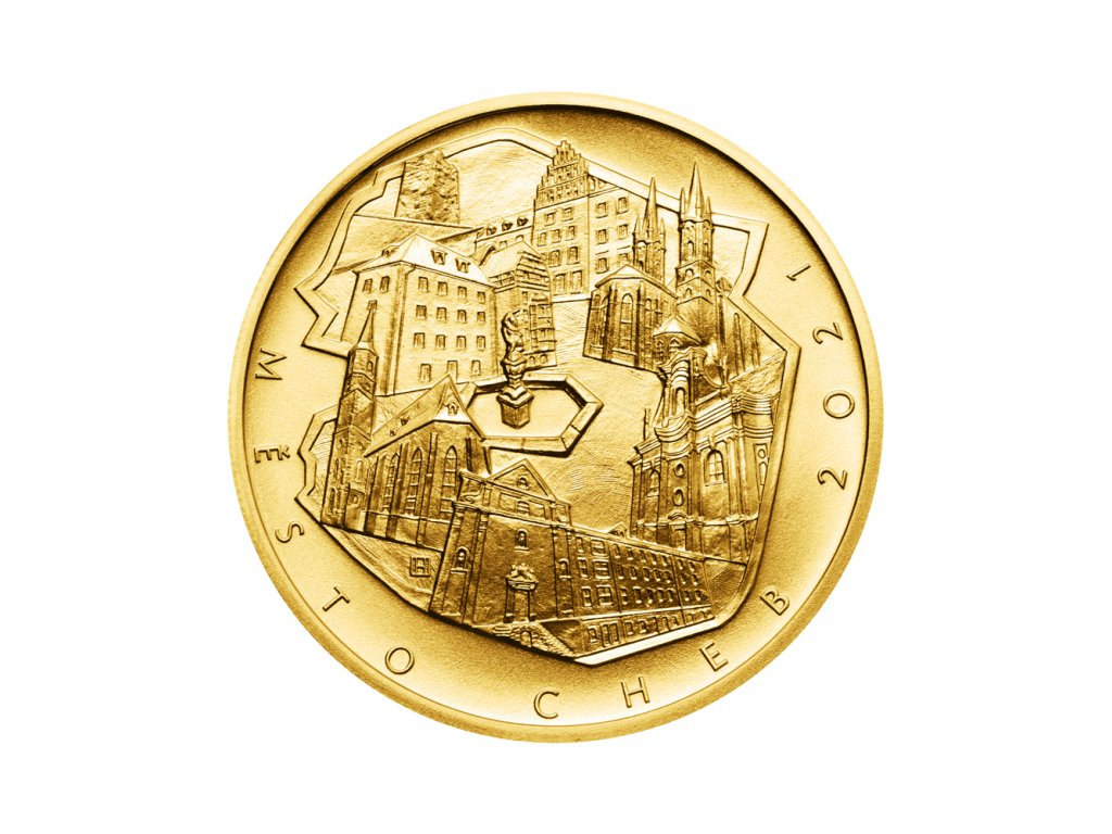 Zlatá mince 5000 Kč Cheb 2021 Standard