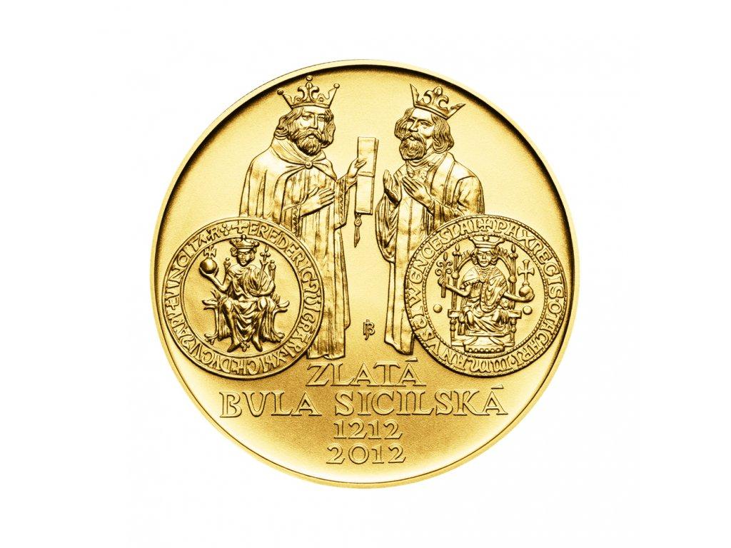 Zlatá mince 10000 Kč Zlatá bula sicilská 1oz 2012 Standard