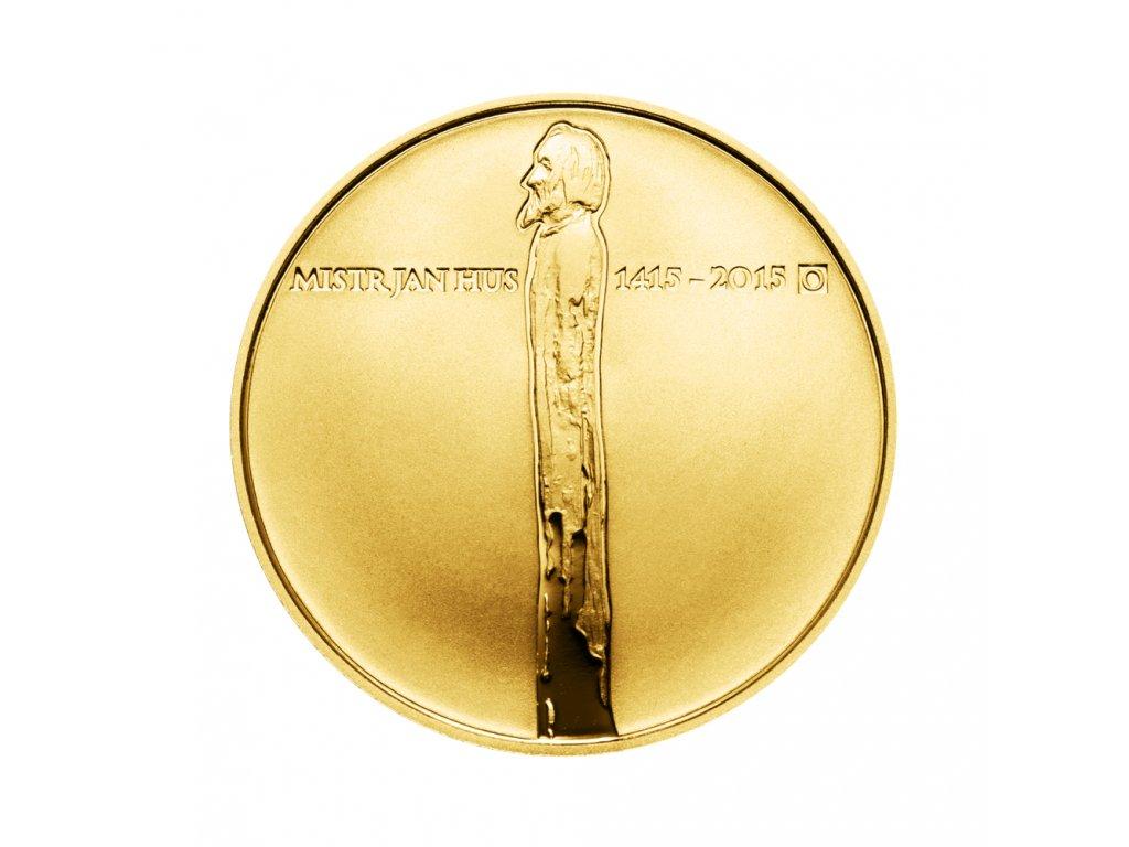 Zlatá mince 10000 Kč Jan Hus 1oz 2015 Proof