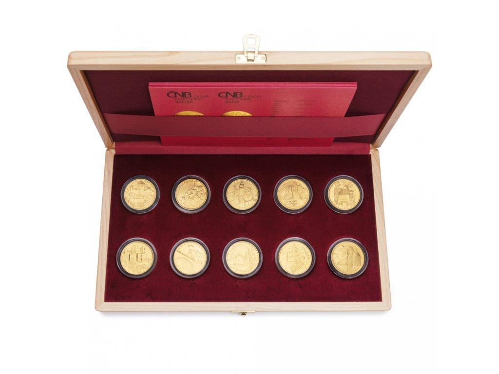 Sada 10 zlatých mincí Hrady 2016 - 2020 Proof
