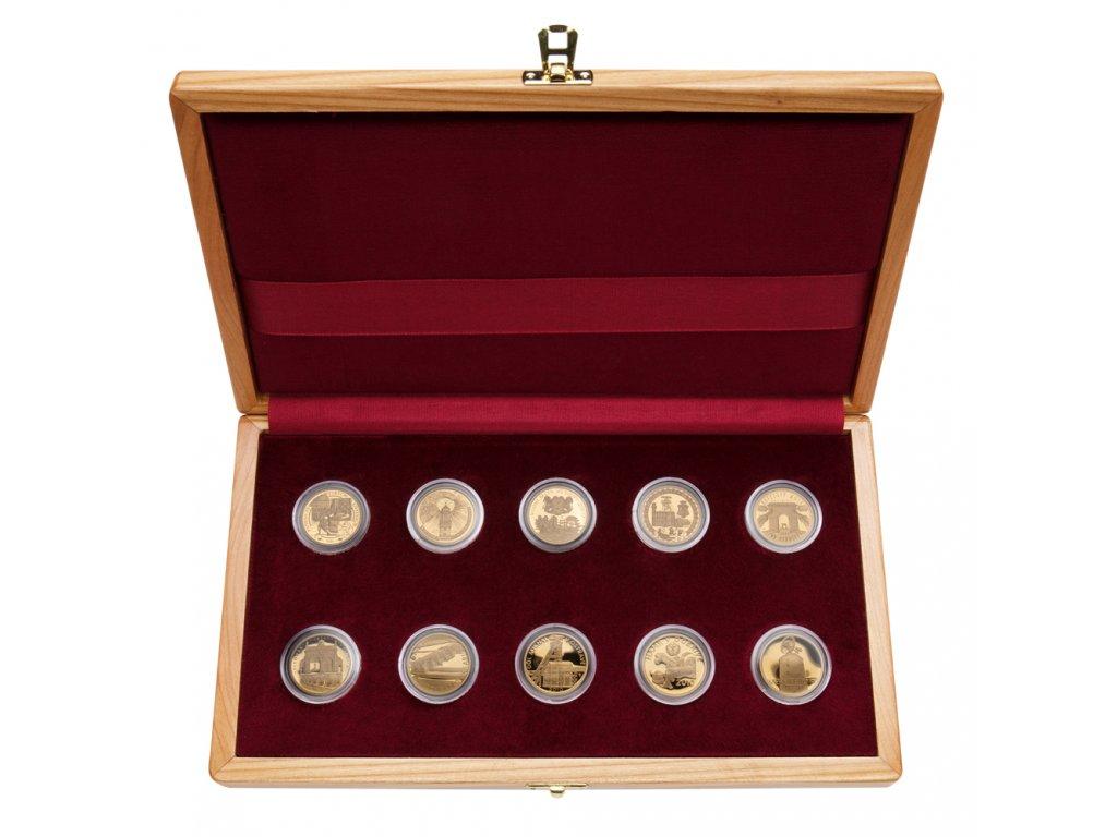 Sada 10 zlatých mincí Kulturní památky technického dědictví 2006 - 2010 Proof