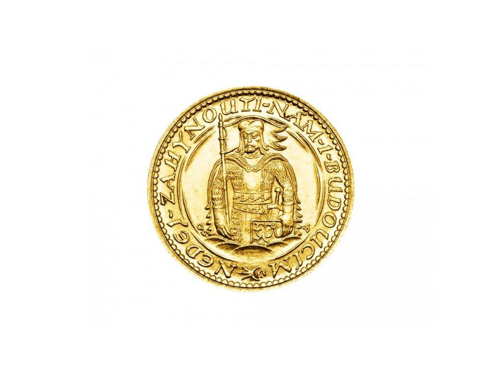 Zlatá mince Svatý Václav Dvoudukát Československý 1936