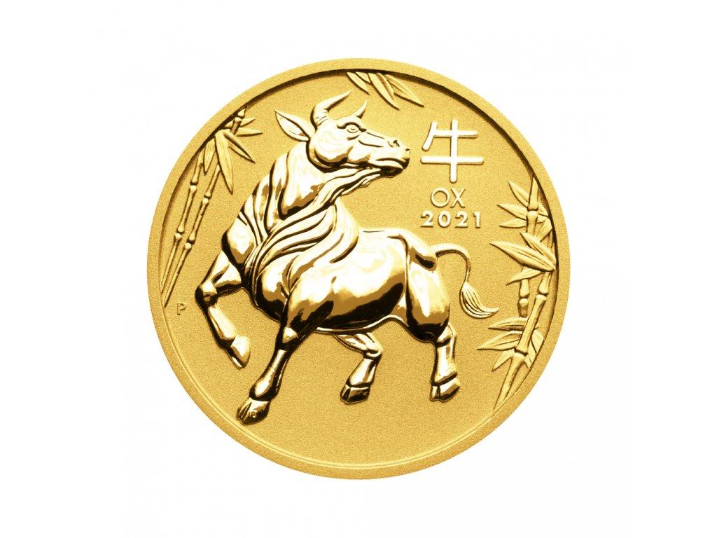 Zlatá investiční mince Rok Buvola Lunar III 1/20 Oz 2021