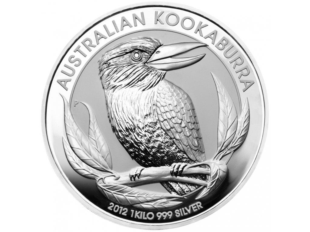 Stříbrná investiční mince Kookaburra 1kg 2021