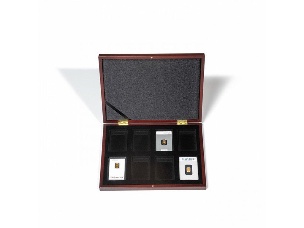 Univerzální hnědá krabička pro 8 zlatých slitků