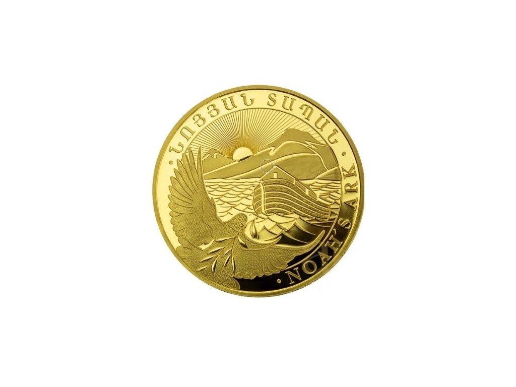Zlatá investiční mince Noemova archa 1/4 Oz