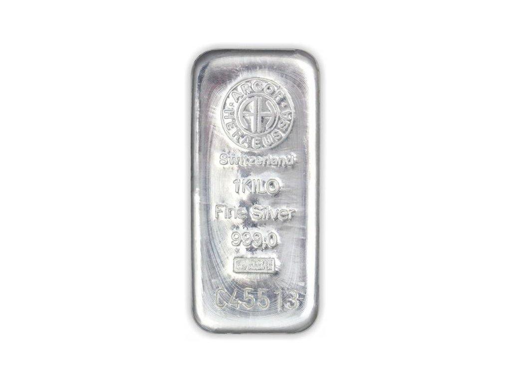 1000g investiční stříbrný slitek Argor Heraeus