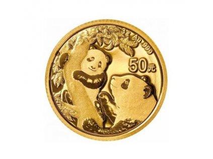 Zlatá investiční mince Panda 3g