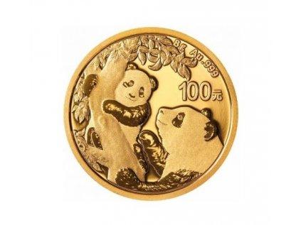 Zlatá investiční mince Panda 8g