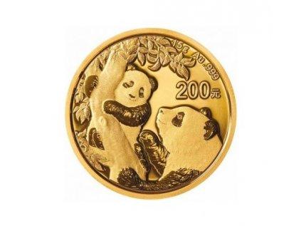 Zlatá investiční mince Panda 15g