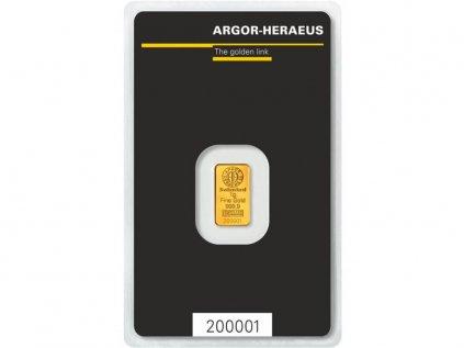 1g investiční zlatý slitek Argor Heraeus SA