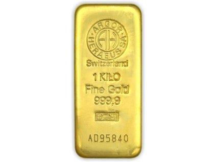 1000g investiční zlatý slitek Argor Heraeus SA
