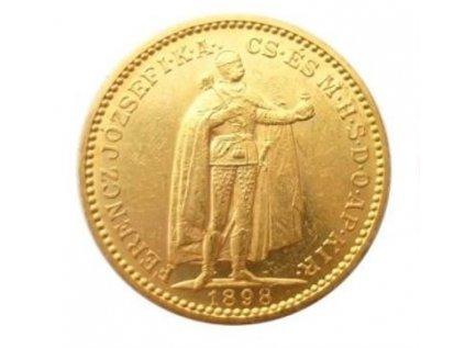 Zlatá mince Dvacetikoruna Františka Josefa I. Uherská ražba 1900