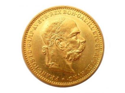 Zlatá mince Dvacetikoruna Františka Josefa I. Rakouská ražba 1896