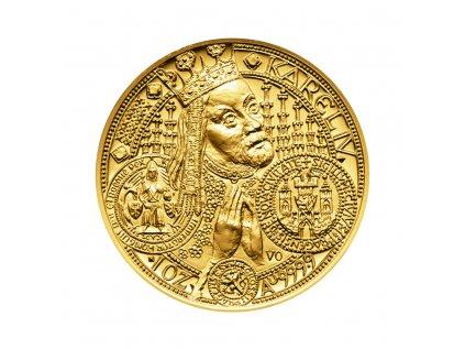 Zlatá mince 10000 Kč Založení Nového Města pražského v r. 1348 ročník 1998 Standard
